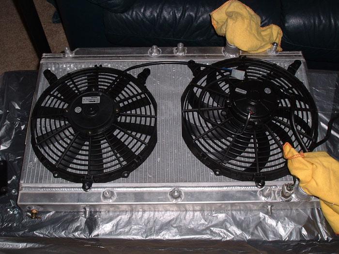 Can Fan Installation : Spal slim fan installation