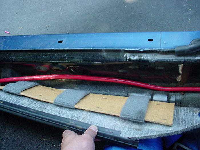 Battery Relocation To Trunk
